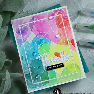 Heart to Heart Rainbow Card