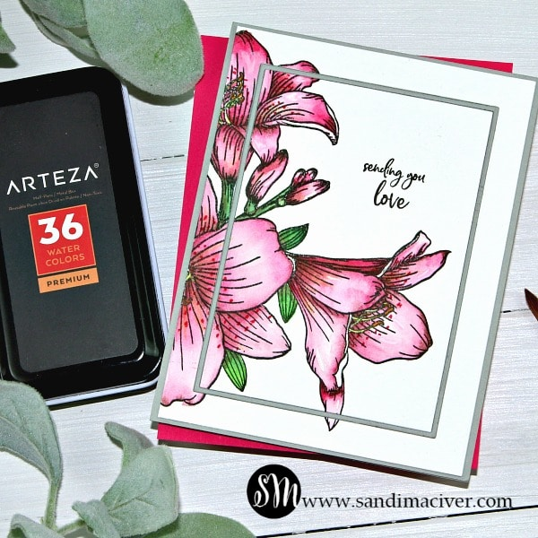Arteza Watercolor paint and paper