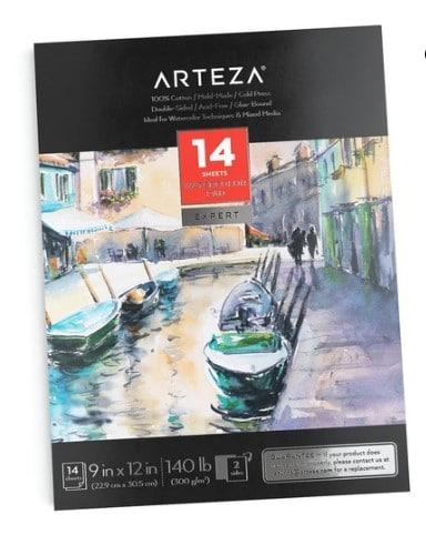 Arteza watercolor pads