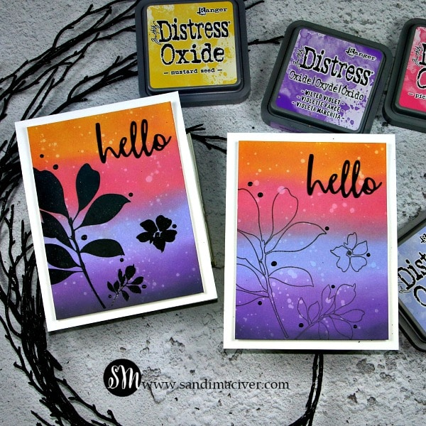 Distress Oxide Color Combos and Cards 4