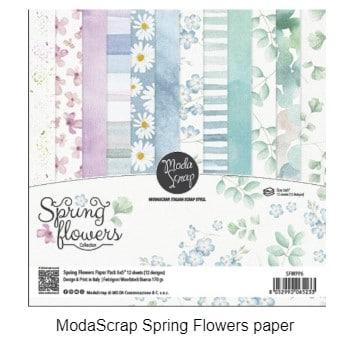 Monoscrap spring flowers paper