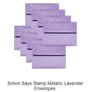 SSS Metallic Lavender Envelopes
