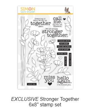 Stronger together stamp set