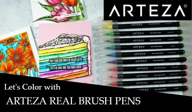 Let's color with Arteza Real Brush Pens