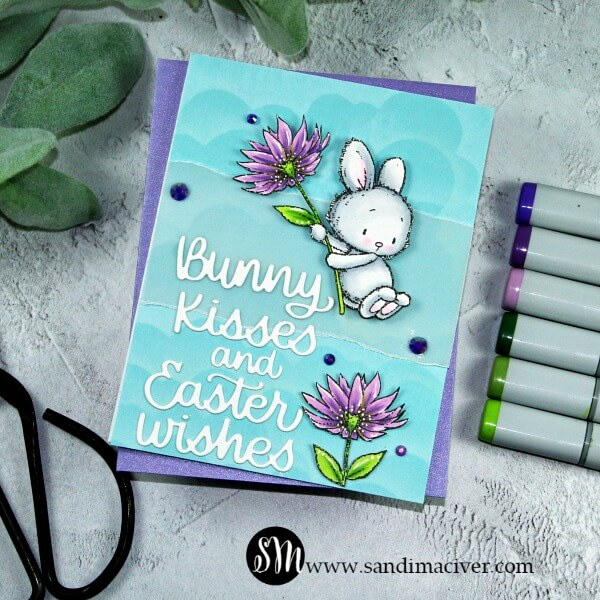 Penny Black Flying By Easter Card