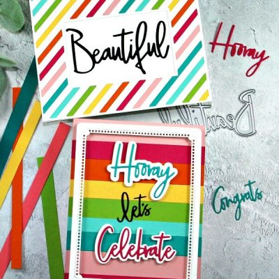 Pinkfresh Studio Rainbow Cards by Sandi Maciver