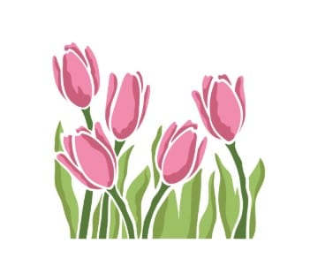 SImon Says Stamp Layered Tulips Stencil