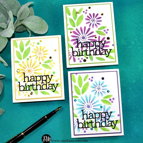 Simon Says Stamp Daisy Bouquet Stencil