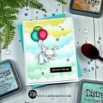 Simon Says Stamp - Lifting Hearts Bunny Card