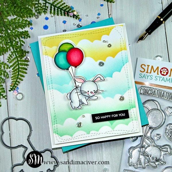 Simon Says Stamp Lifting Hearts Bunny Card