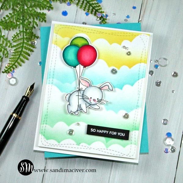Simon Says Stamp Lifting Hearts Bunny Card 3