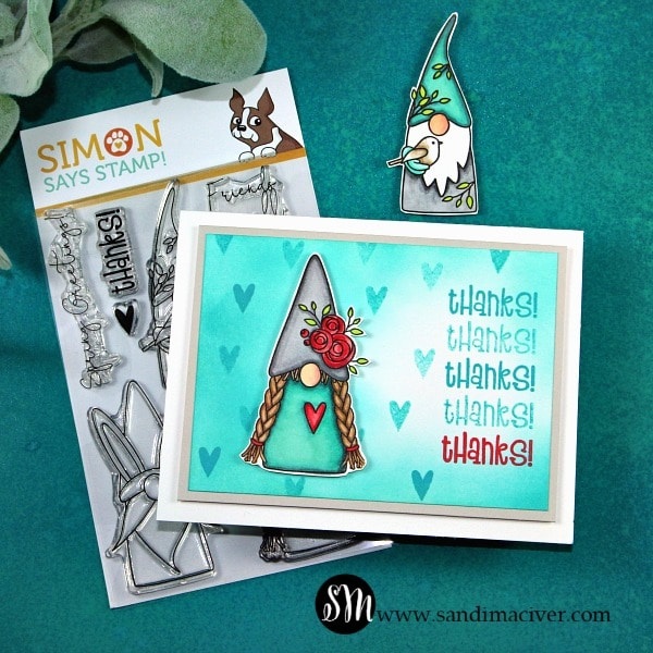 Simon Says Stamp Spring Gnomes Girl blue gnome
