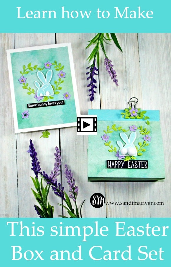 Simple Easter Box and Card created with Simon Says Stamp Oh Bunny