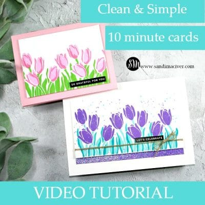 Learn how to Two Step Stamp with Simon Says Stamp Layered Tulips