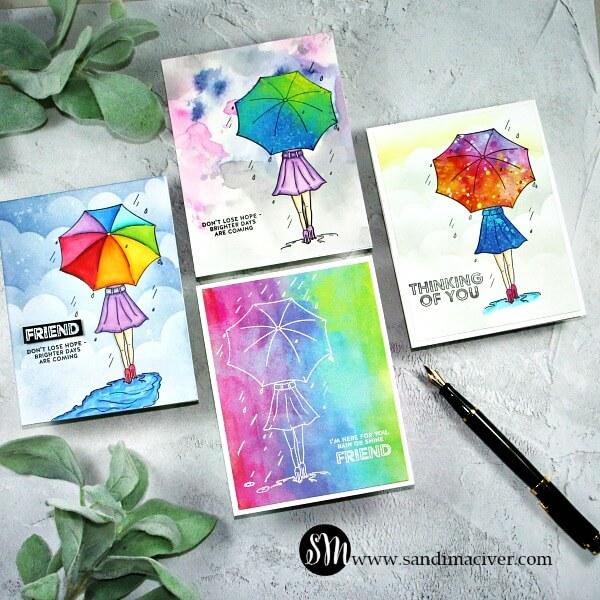 April Follow The Rainbow Card Kit group