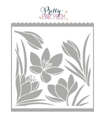 Crocus Stencil from Pretty Pink Posh