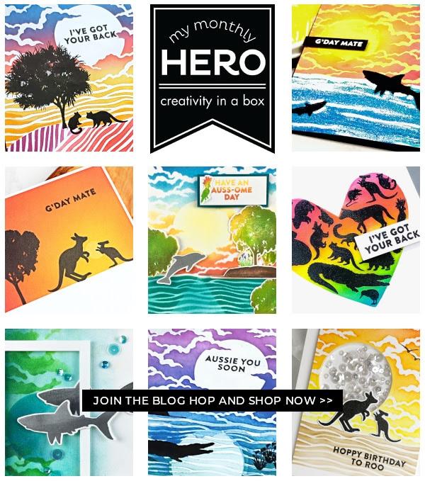 Hero Arts April Kit, designs