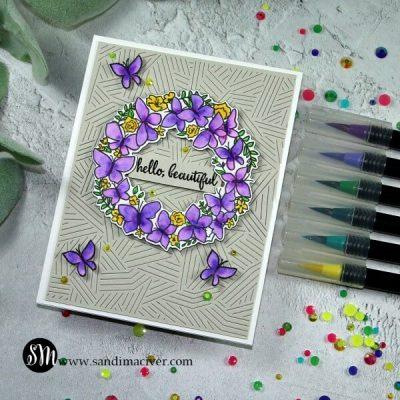 Reverse Confetti Butterfly Wreath