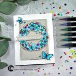 Reverse Confetti Butterfly Wreath blue
