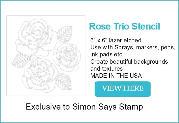 Rose Trio Stencil From Simon Says Stamp