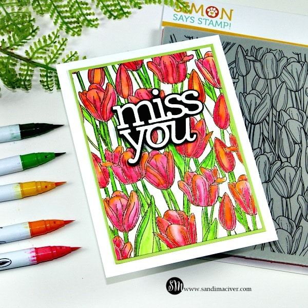 Tulip Background and Zig Markers