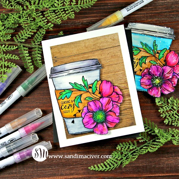 Graciellie Design Cuddle in a Cup with Zig Clear Brush Markers