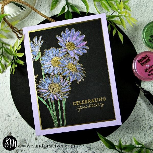 SImon Says Stamp Metallic Daisy Bouquet