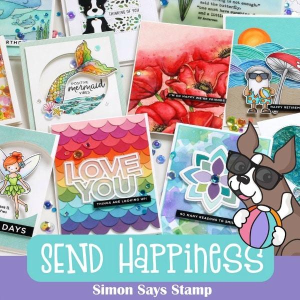 SImon Says Stamp Send Happiness Banner