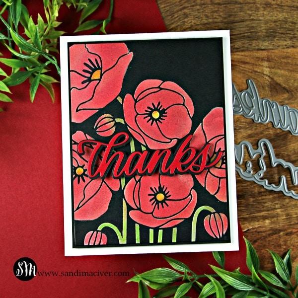 NEW Simon Says Stamp Poppy Bouquet Stencil