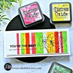 Distress Oxide Inks Blended Stripes