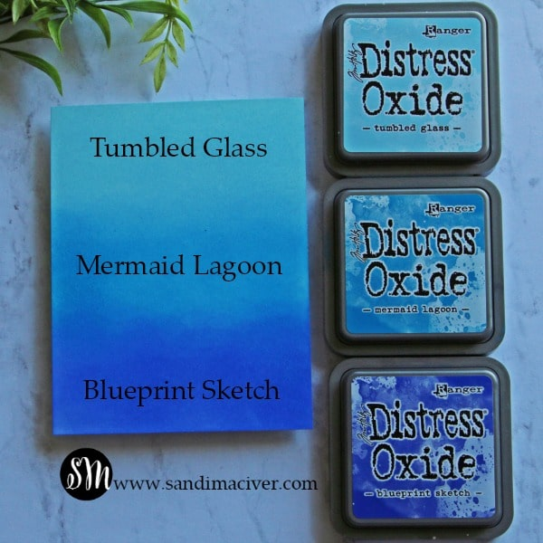 Distress Oxide Inks Color Combos blues