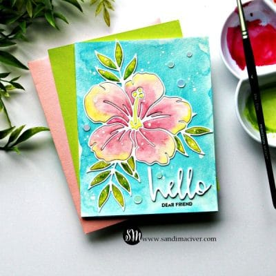 Crafty Sales and Simon Says Stamp Hibiscus Bloom Die