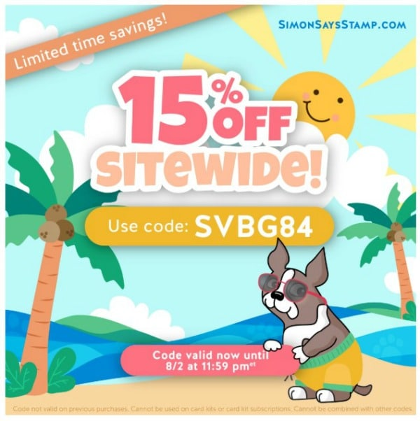 Simon Says Stamp 15% off Sitewide