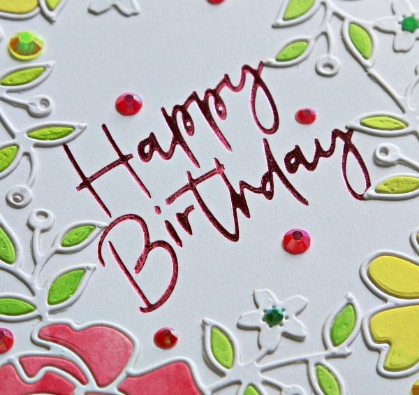 Spellbinders Thank you and Happy Birthday Stylish Script Collection