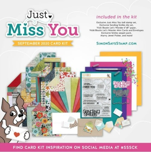Simon Says Stamp September Card Kit Just Miss You