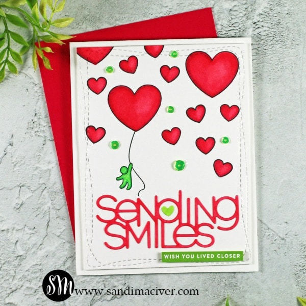 SImon Says Stamp Just Miss You Card Kit Card 1