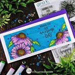 Slimline Card Gina K Colossal Cone Flower Card