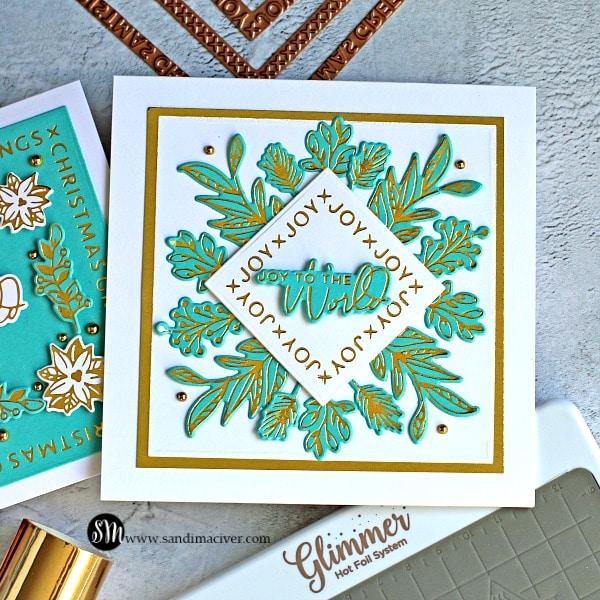 Spellbinders Christmas Glimmer Cards
