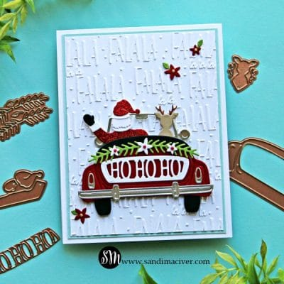 Spellbinders Sunday Drive with Santa