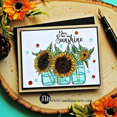 Unity Stamp Company Sunflowers