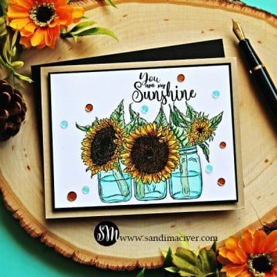 Unity Stamp Company Sunflowers