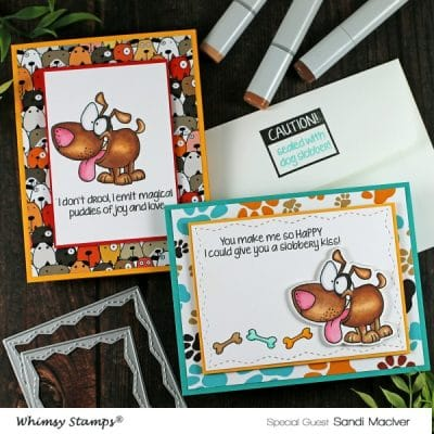 Whimsy Stamps Caution Dog Slobber
