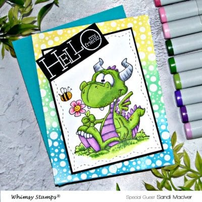 Whimsy Stamps Dorky Dragon