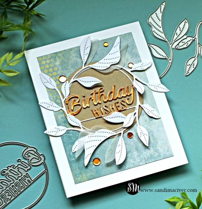 Simon Says Stamp Masculine Tender Leaves Card