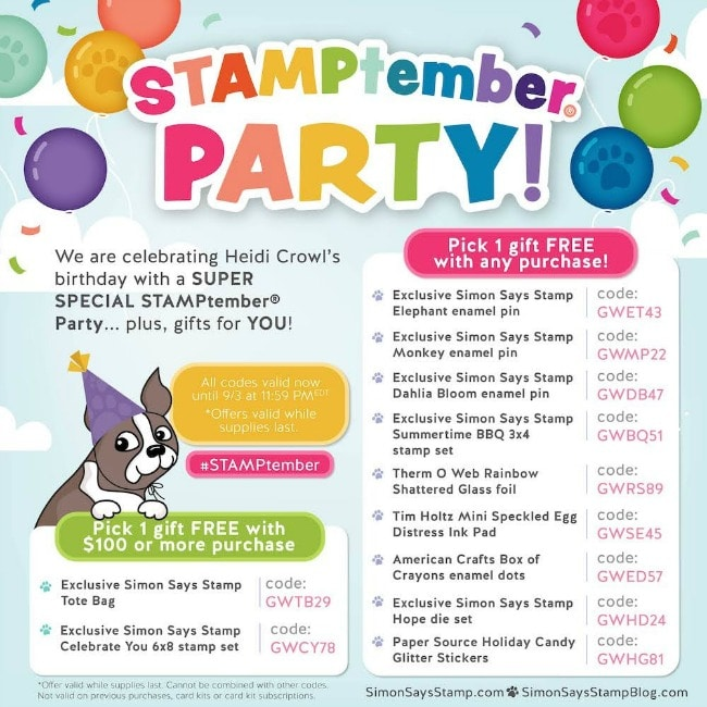 Simon Says Stamp Free Gift with Purchase