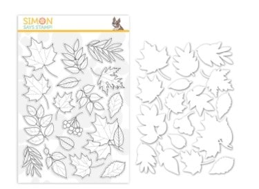Autumn Leaves stamp and die bundle