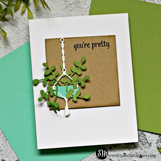 Spellbinders Take Time For You Project Kit Happy Plants Card 2