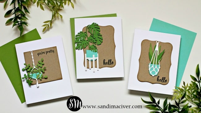 Spellbinders Take Time For You Project Kit Happy Plants Die set