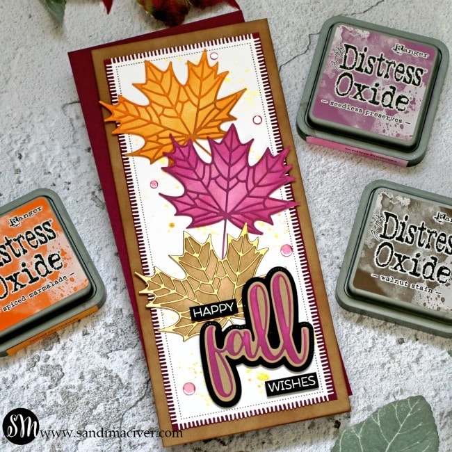 Honey Bee Stamps Maple Leaf Cards