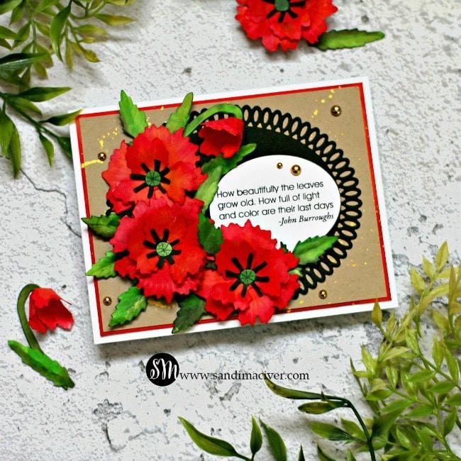 Spellbinders Susan Tierney Cockburn floral diesOriental Poppy